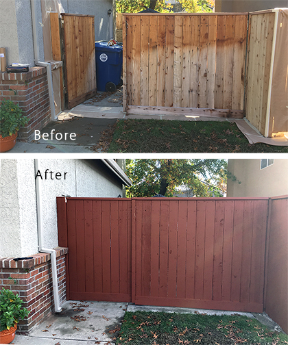 OP Painting Wood Fence Staining